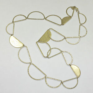 Silpada K&R Brass Half Moon Necklace